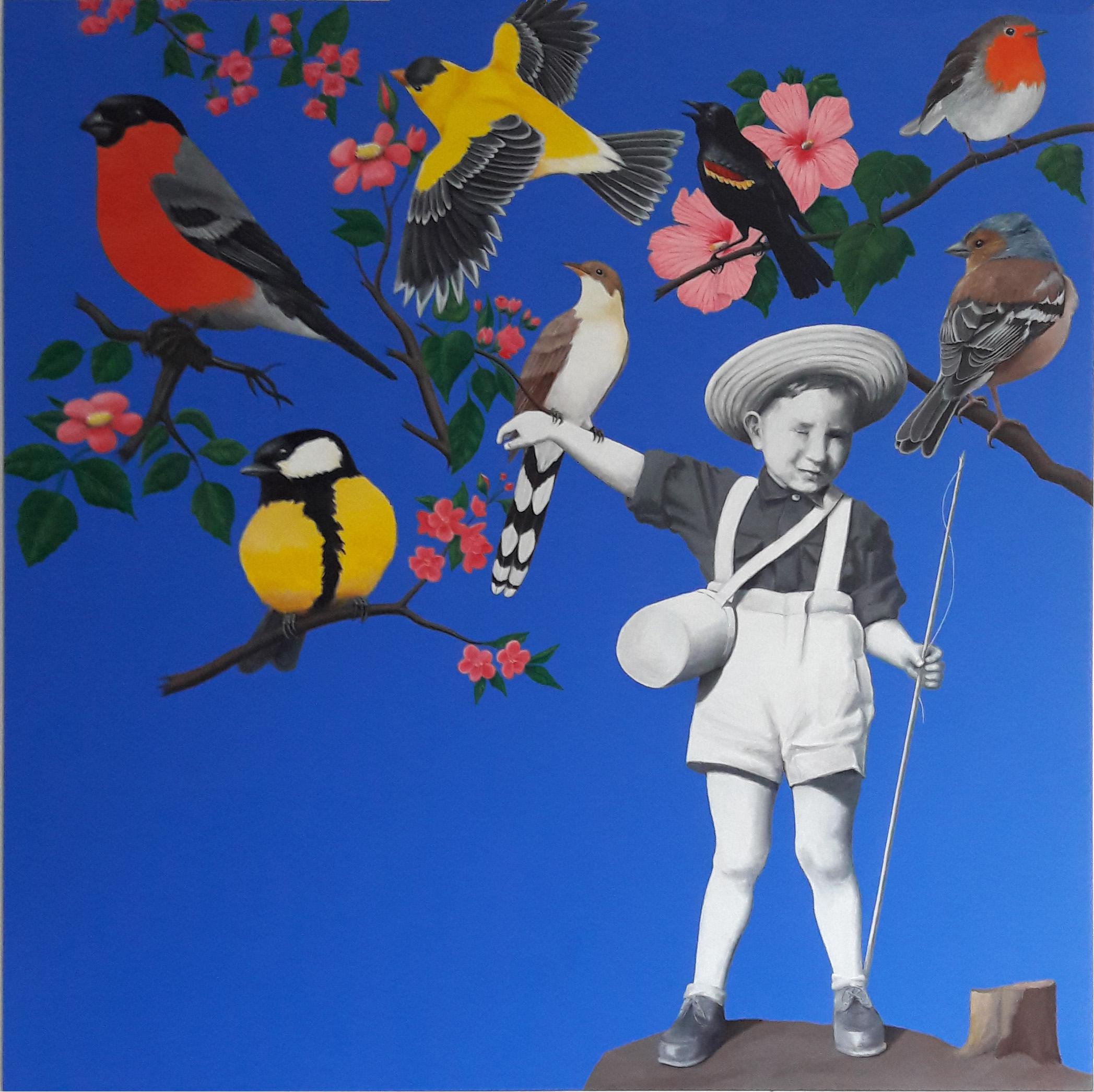 Le-pêcheur-doiseaux-acrylique-sur-toile-120x120-juillet-2015